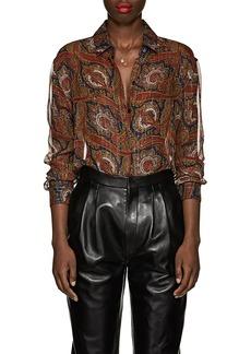 Saint Laurent Women's Paisley Silk Blouse