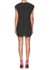 Saint Laurent Women's Star-Print Silk Shirtdress