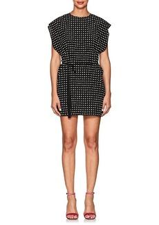 Saint Laurent Women's Star-Print Silk Shirtdress