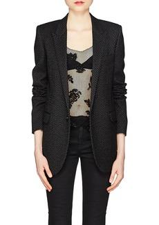 Saint Laurent Women's Striped Wool-Blend One-Button Blazer