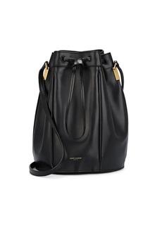 Saint Laurent Women's Talitha Medium Leather Bucket Bag - Black