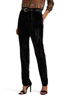 Saint Laurent Women's Textured Velvet Trousers