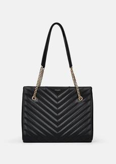Saint Laurent Women's Tribeca Medium Leather Satchel - Black
