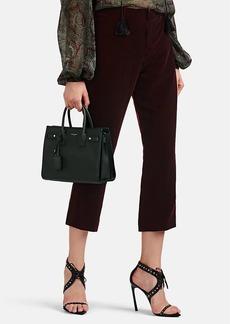 Saint Laurent Women's Velvet Crop Kickback Trousers