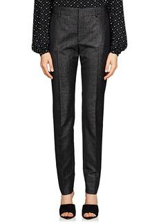 Saint Laurent Women's Virgin Wool-Blend Twill Slim Trousers