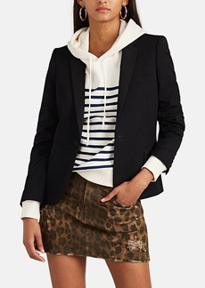 Saint Laurent Women's Wool Canvas One-Button Blazer