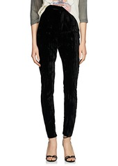 Saint Laurent Women's Wrinkled Velvet Cigarette Pants