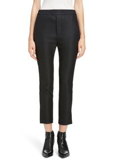 Saint Laurent Wool & Mohair Tuxedo Stripe Track Pants