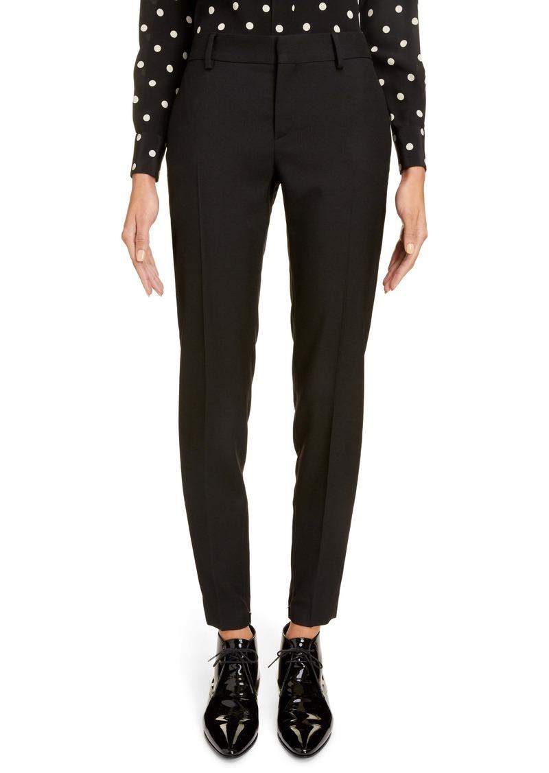 Saint Laurent Wool Gabardine Skinny Pants