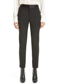 Saint Laurent Wool High Waist Slim Ankle Pants