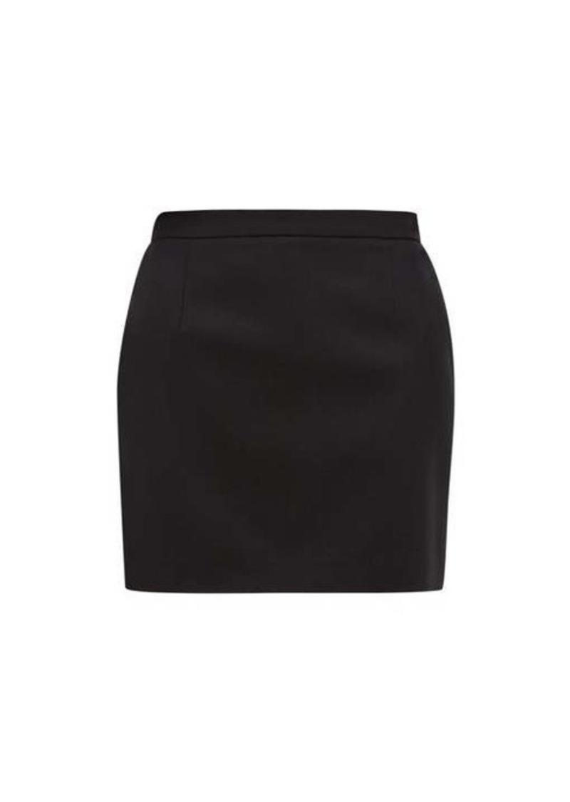 Saint Laurent Wool-twill mini skirt