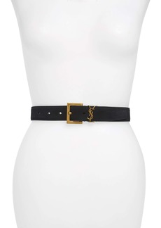 Saint Laurent YSL Cintura Suede Belt