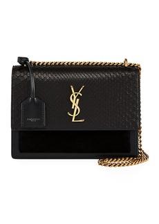 Saint Laurent YSL Sunset Python Crossbody Bag