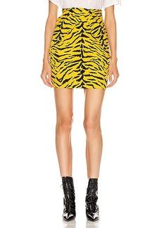 Saint Laurent Zebra Mini Skirt
