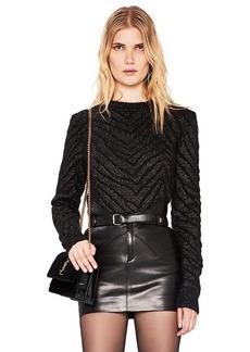 Saint Laurent Zebra Print Lurex Mohair Sweater