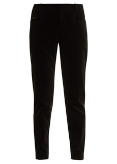 Saint Laurent Zip-hem corduroy trousers
