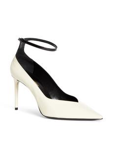 Saint Laurent Zoe Ankle Strap Pointed Toe Pump (Women)