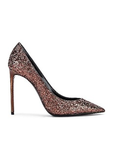 Saint Laurent Zoe Glitter Pumps