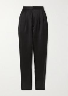 Saint Laurent Satin Straight-leg Pants
