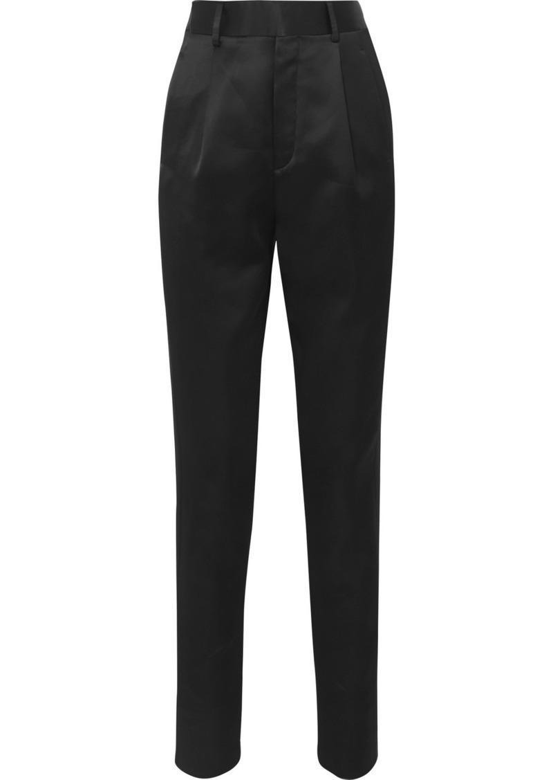 Saint Laurent Satin Straight-leg Pants
