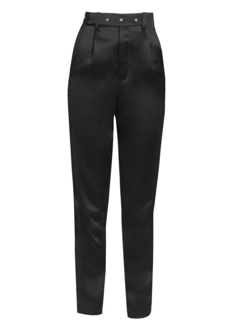 Saint Laurent Satin Tapered Trousers