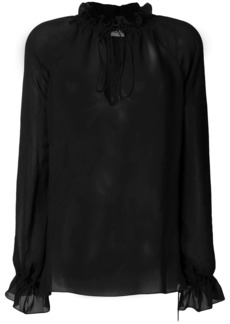 Saint Laurent semi-sheer Pirate blouse
