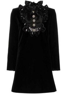 Saint Laurent sequin embellished A-line dress