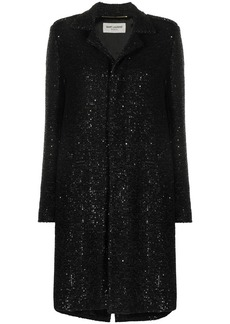 Saint Laurent sequin embroidered midi coat