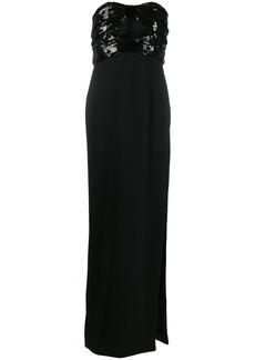 Saint Laurent sequined evening gown