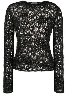 Saint Laurent sequinned crochet jumper