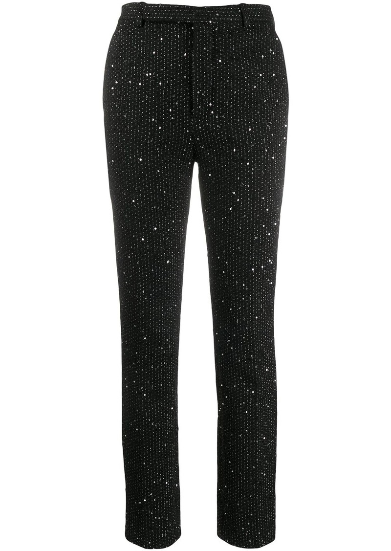 Saint Laurent sequinned slim fit trousers