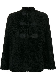 Saint Laurent shearling cape
