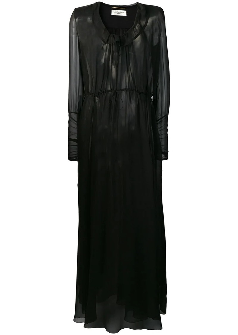Saint Laurent sheer maxi dress