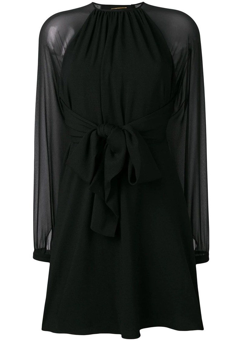 Saint Laurent sheer sleeve dress