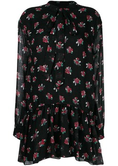 Saint Laurent short bouquet print dress