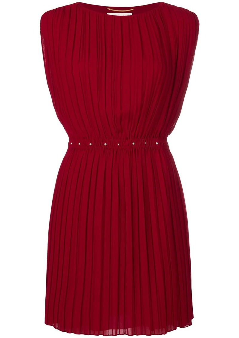 Saint Laurent short pleated dress