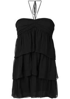 Saint Laurent short tiered dress