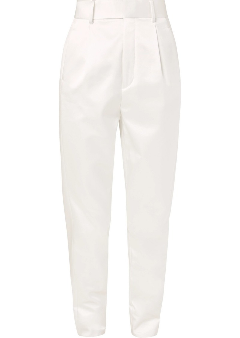 Saint Laurent Silk-blend Satin Straight-leg Pants