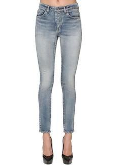 Saint Laurent Skinny Cotton Blend Denim Jeans