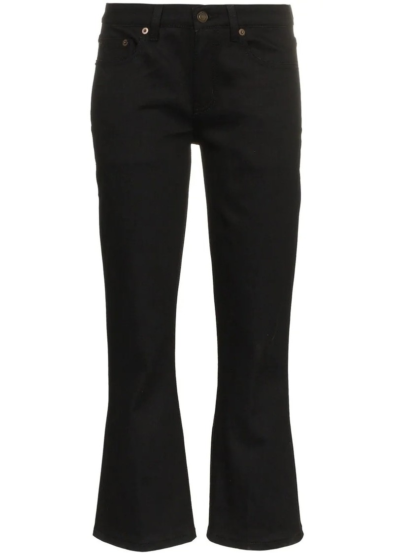 Saint Laurent Skinny Flared Cropped Jeans