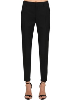 Saint Laurent Skinny Wool Gabardine Pants