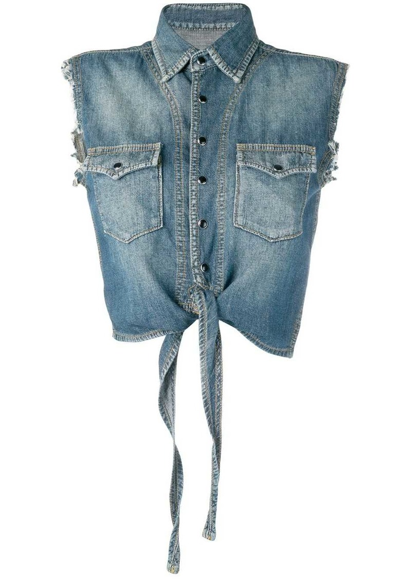 Saint Laurent sleeveless denim shirt