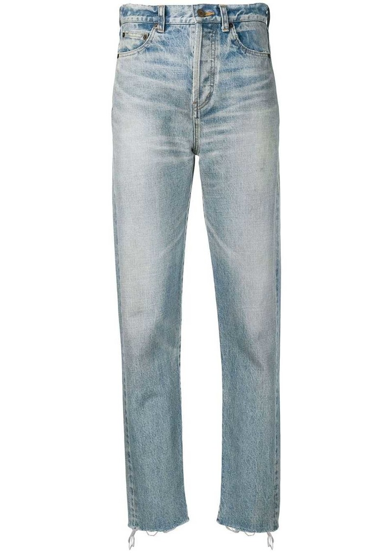 Saint Laurent slim-fit raw edge jeans
