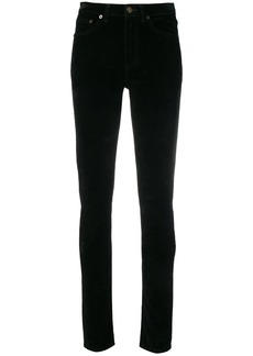 Saint Laurent slim fit velvet trousers