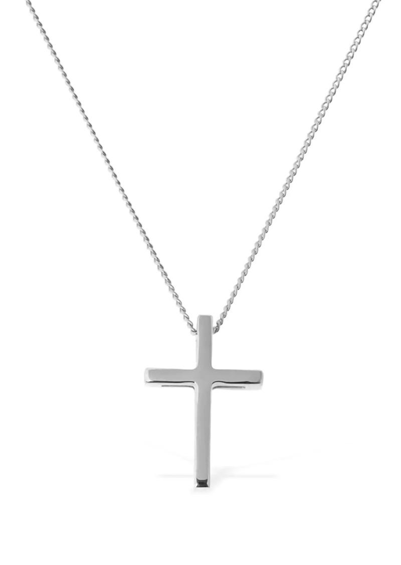 Saint Laurent Slim Necklace W/ 3d Cross