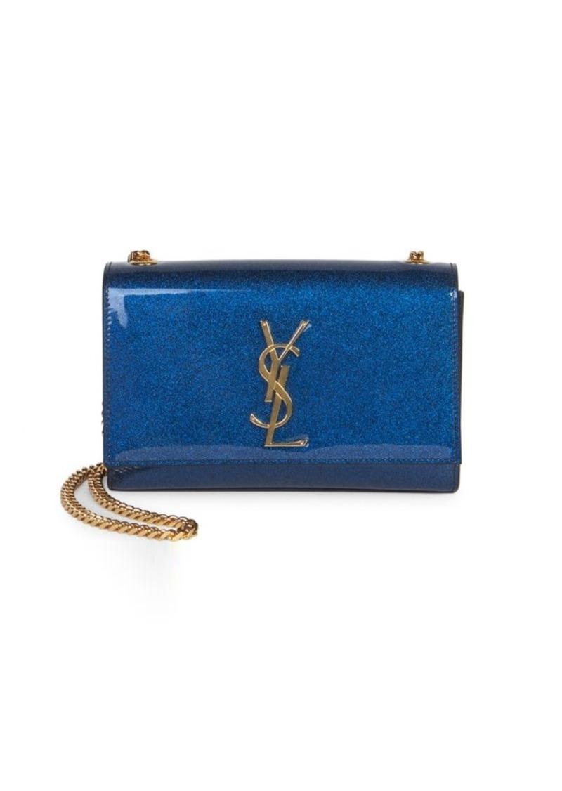 785be0d3ba625 Saint Laurent Small Kate Glitter Patent Leather Shoulder Bag | Handbags