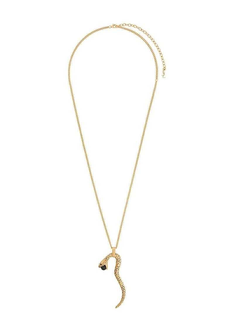 Saint Laurent Snake pendant necklace