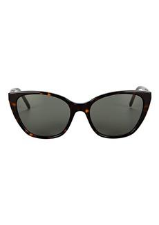 Saint Laurent Soft Narrow Cat Eye Sunglasses