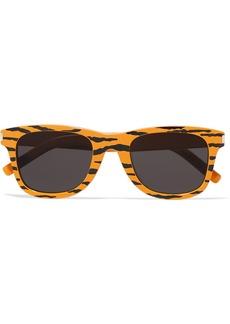 Saint Laurent Square-frame Tiger-print Acetate Sunglasses