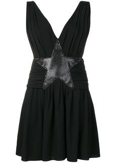 Saint Laurent star appliqué mini dress